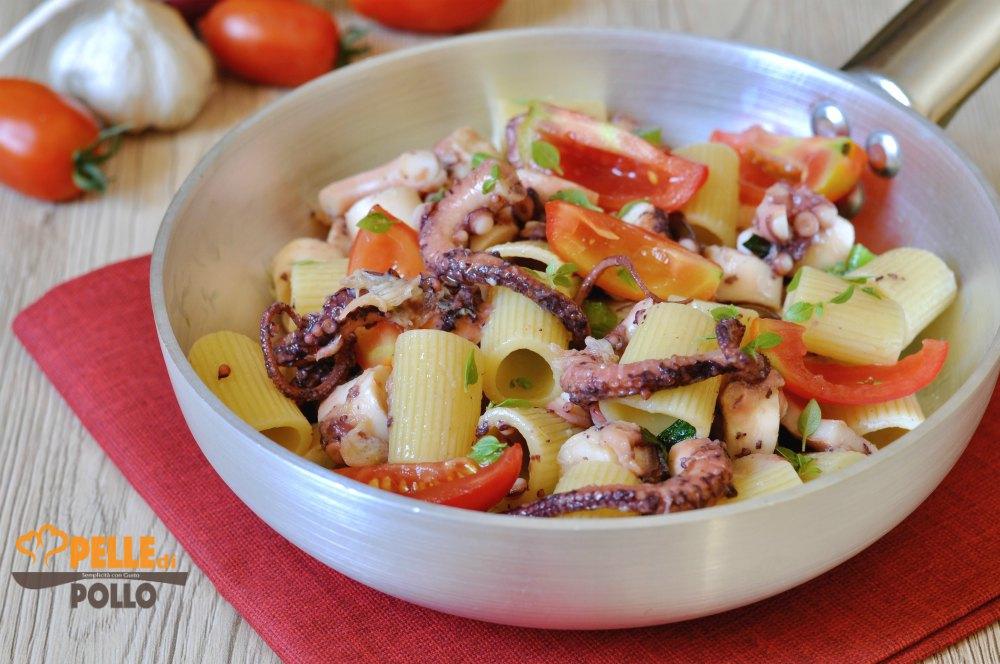 pasta fredda con polpo e pomodorini