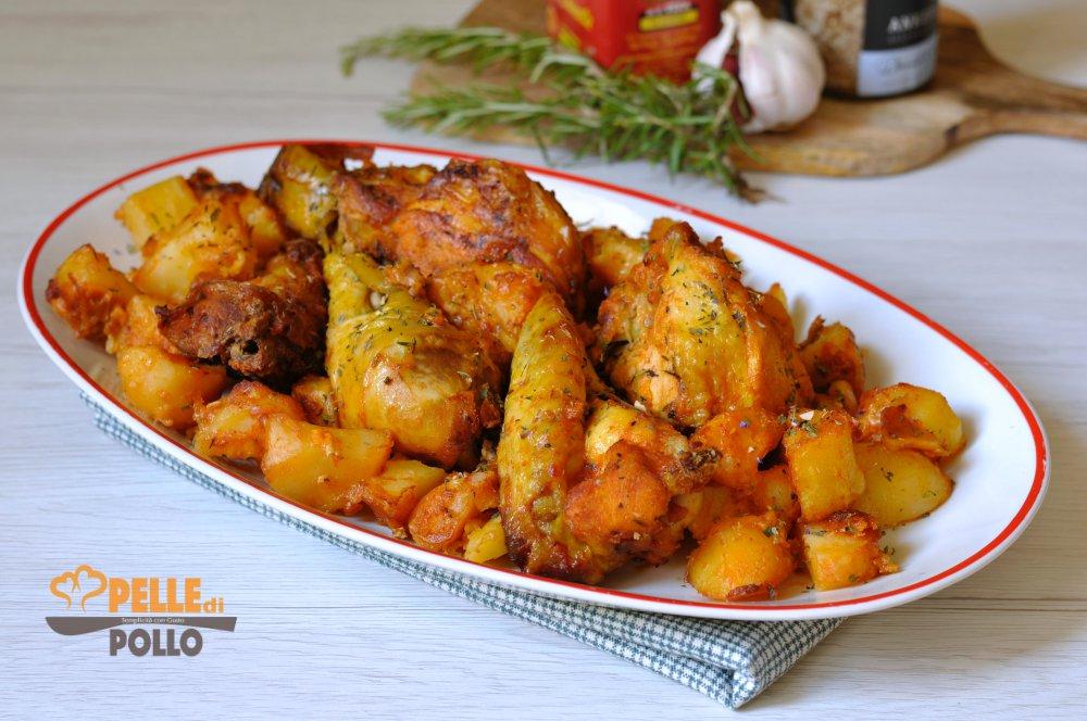 pollo alla paprika con patate