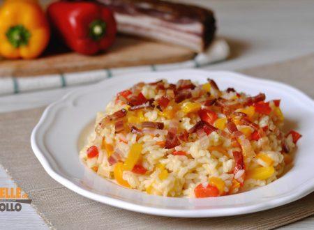 Risotto ai peperoni e pancetta affumicata