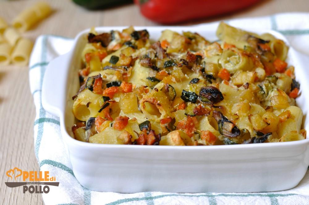 pasta gratinata al forno con verdure