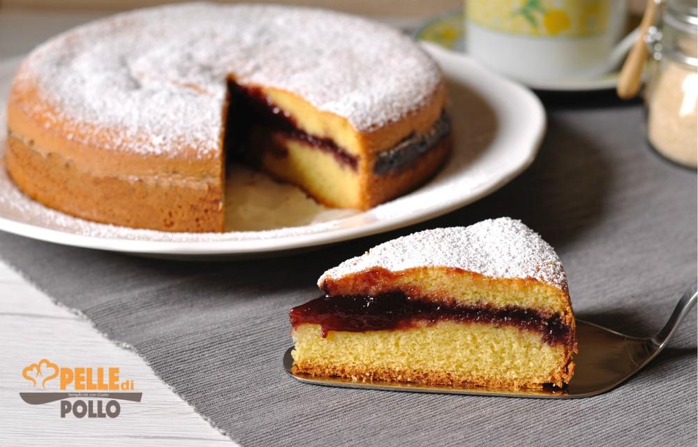 torta versata con marmellata