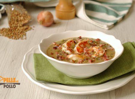 Crema di lenticchie con gamberi
