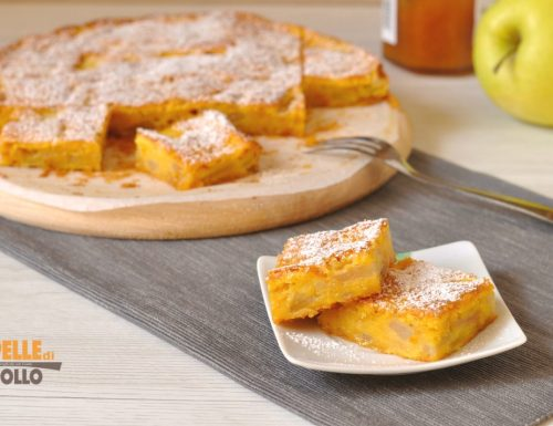 Torta di mele con marmellata di albicocche