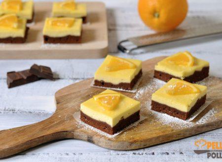 Brownies arancia e cioccolato fondente