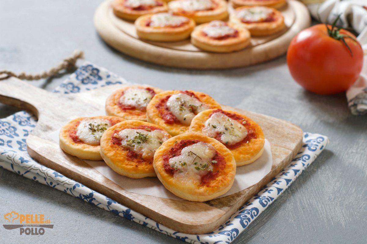 pizzette da buffet senza lievitazione
