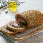 Polpettone ripieno agli spinaci con prosciutto e formaggio