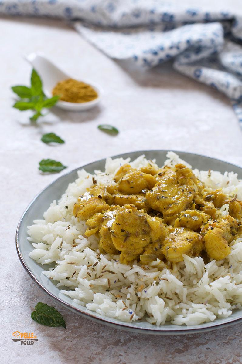 curry di rana pescatrice con riso