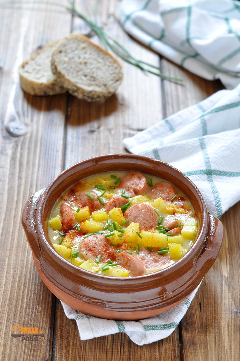 zuppa di patate e wurstel
