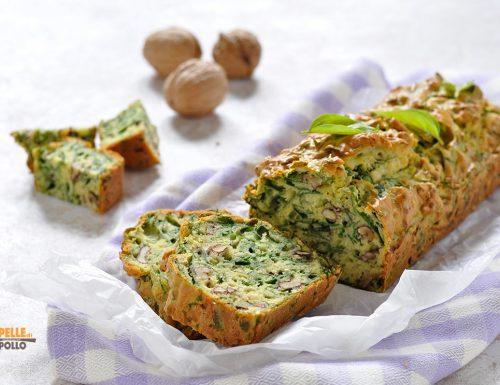 Plumcake salato con spinaci e noci