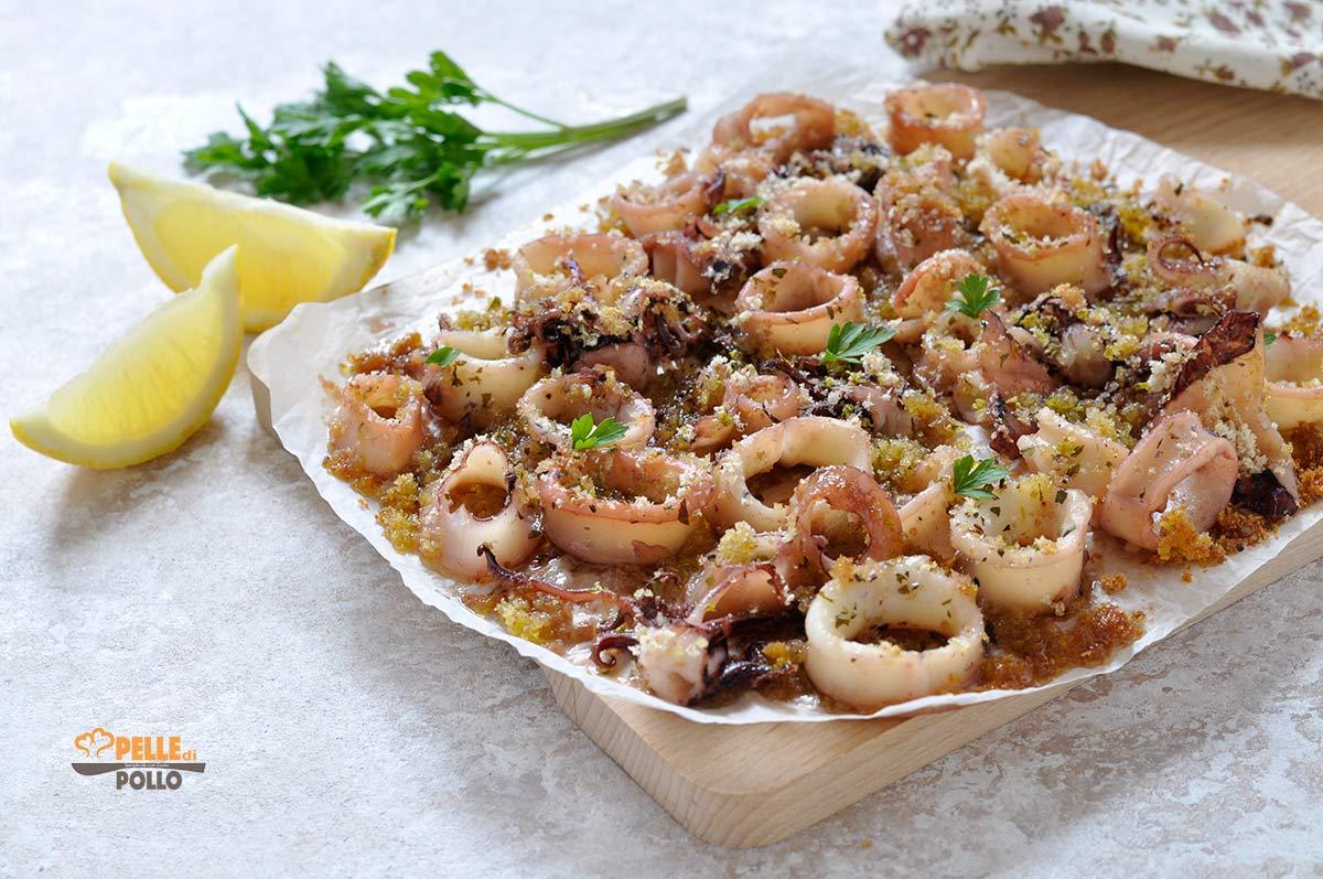 calamari al limone gratinati al forno