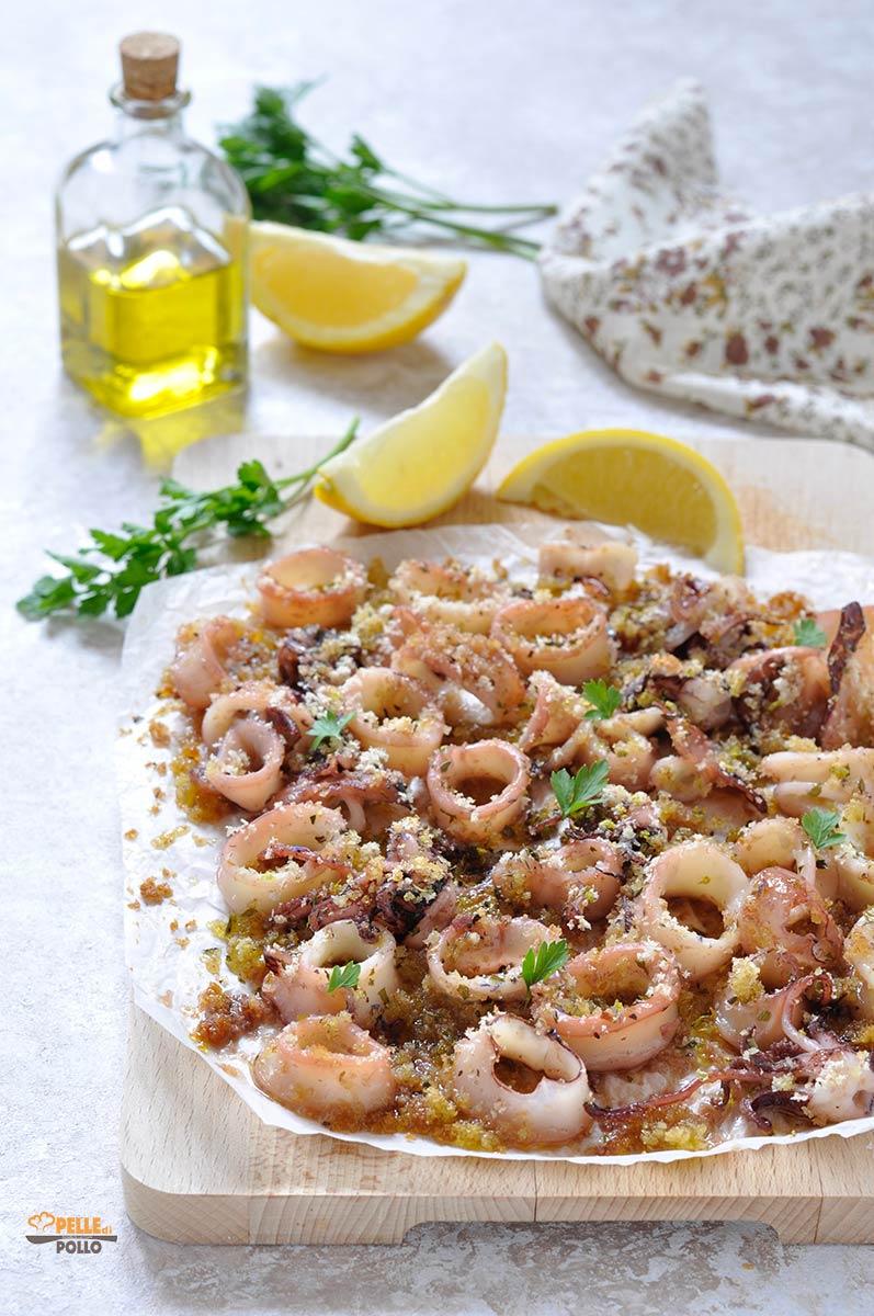 calamari al limone gratinati