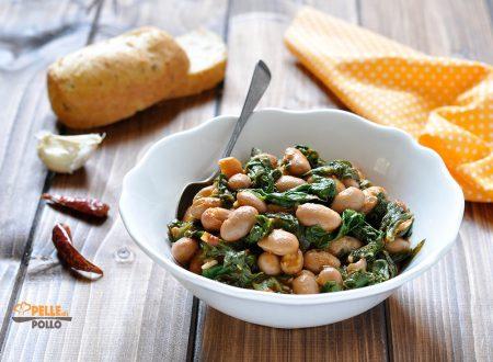 Fagioli e spinaci in padella – contorno rustico e gustoso