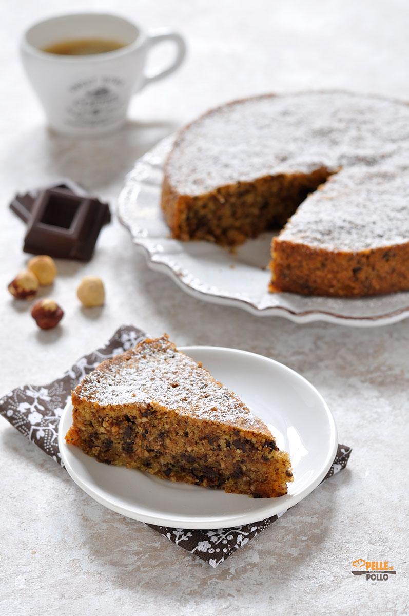 torta alle nocciole e cioccolato