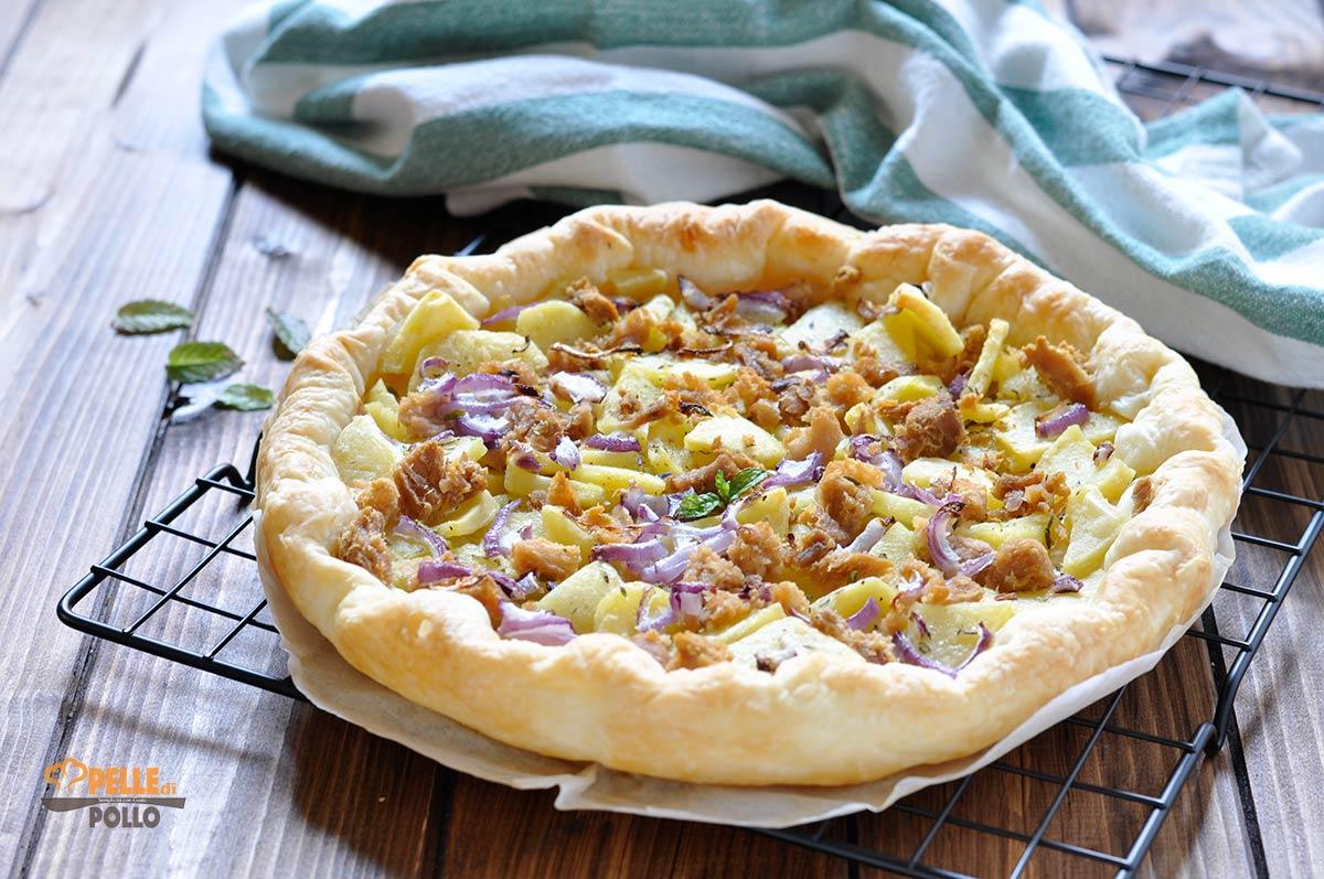 Ricetta Quiche Tonno.Torta Salata Con Tonno Patate E Cipolla Pelle Di Pollo
