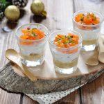 Cheesecake salata in bicchiere al salmone affumicato