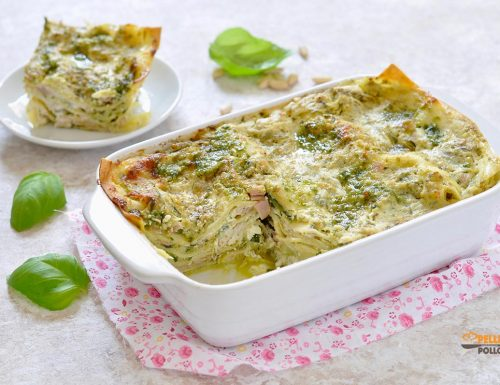 Lasagne al pesto con zucchine e stracchino
