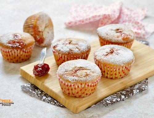 Muffin con cuore di marmellata e mascarpone
