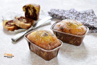 mini plumcake bicolore soffici