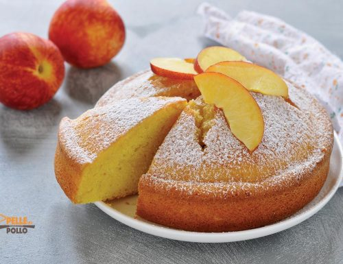 Torta con pesche frullate – Pan di pesche
