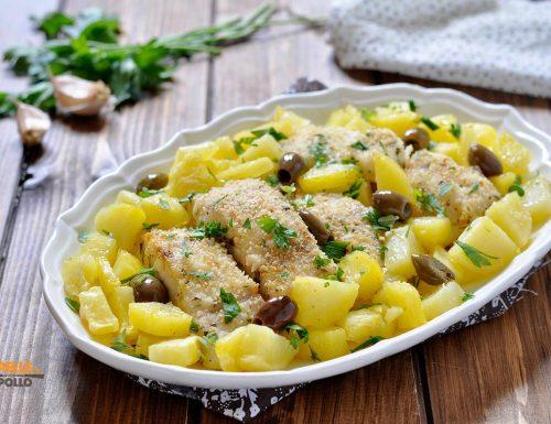 Pesce persico al forno con patate
