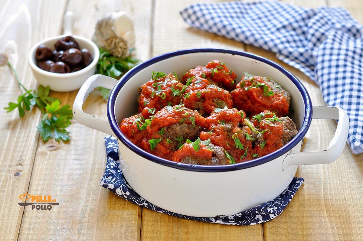 polpette di carne alle olive