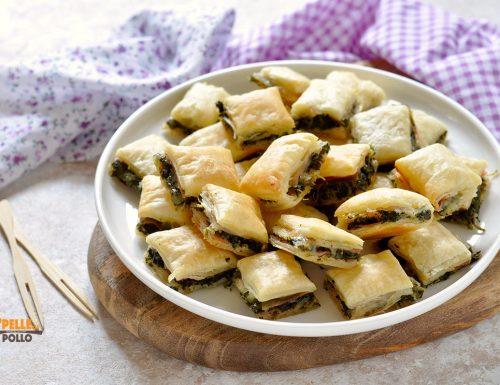 Salatini di sfoglia con prosciutto ed erbette