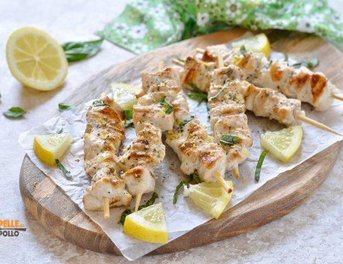 Spiedini di pesce spada al limone