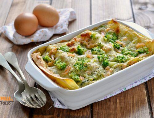 Lasagne con broccoli e salmone affumicato