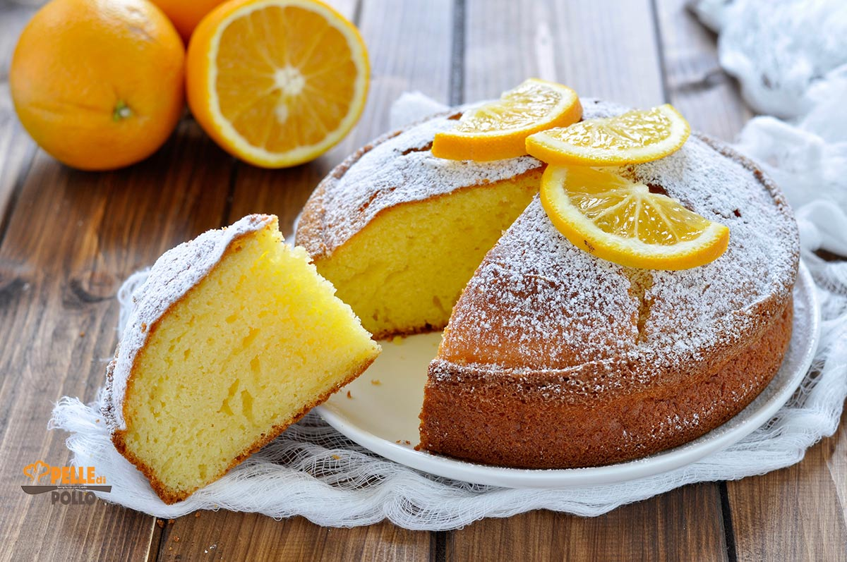 torta all'arancia e yogurt greco