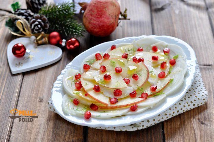 insalata di finocchi con mele e melagrana