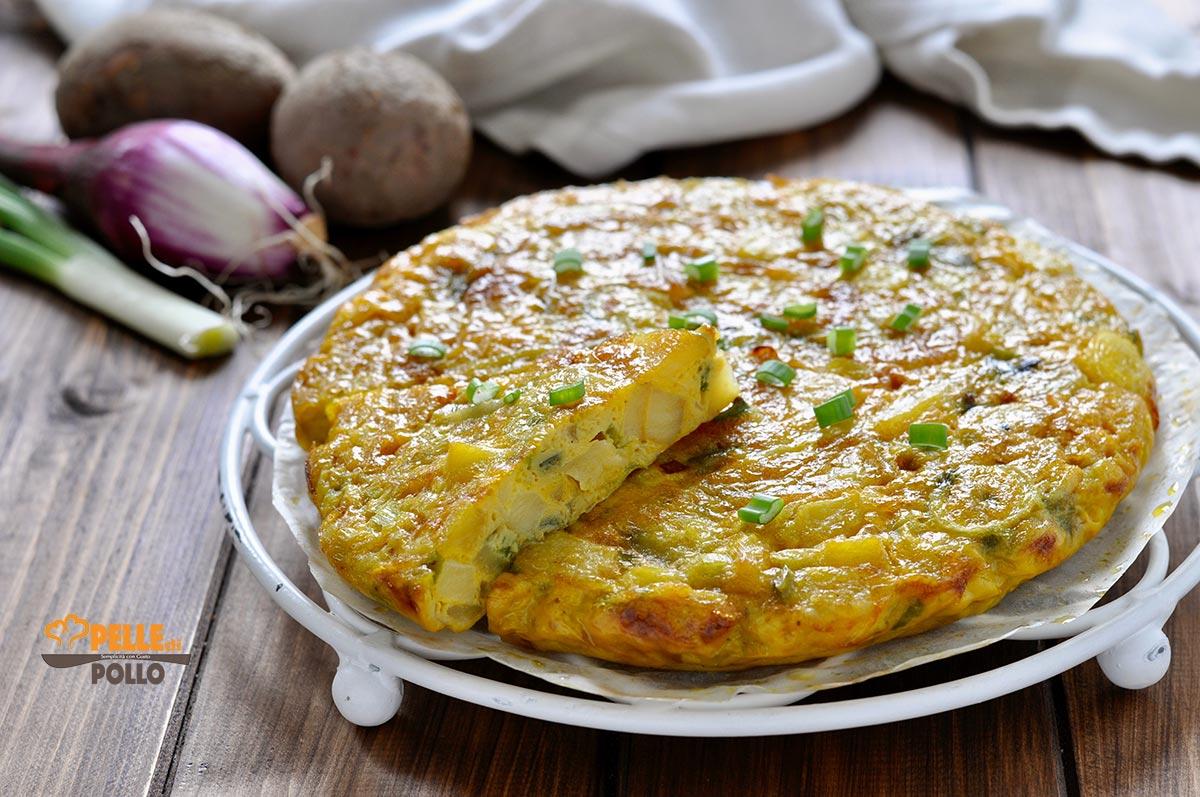 Ricetta Tortillas Patate E Cipolla.Frittata Di Patate E Cipolla Al Forno Pelle Di Pollo Blog