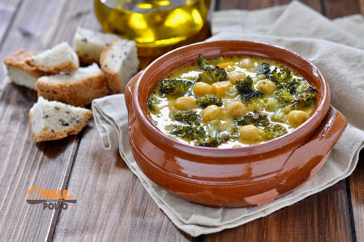 zuppa di ceci con broccoli e patate