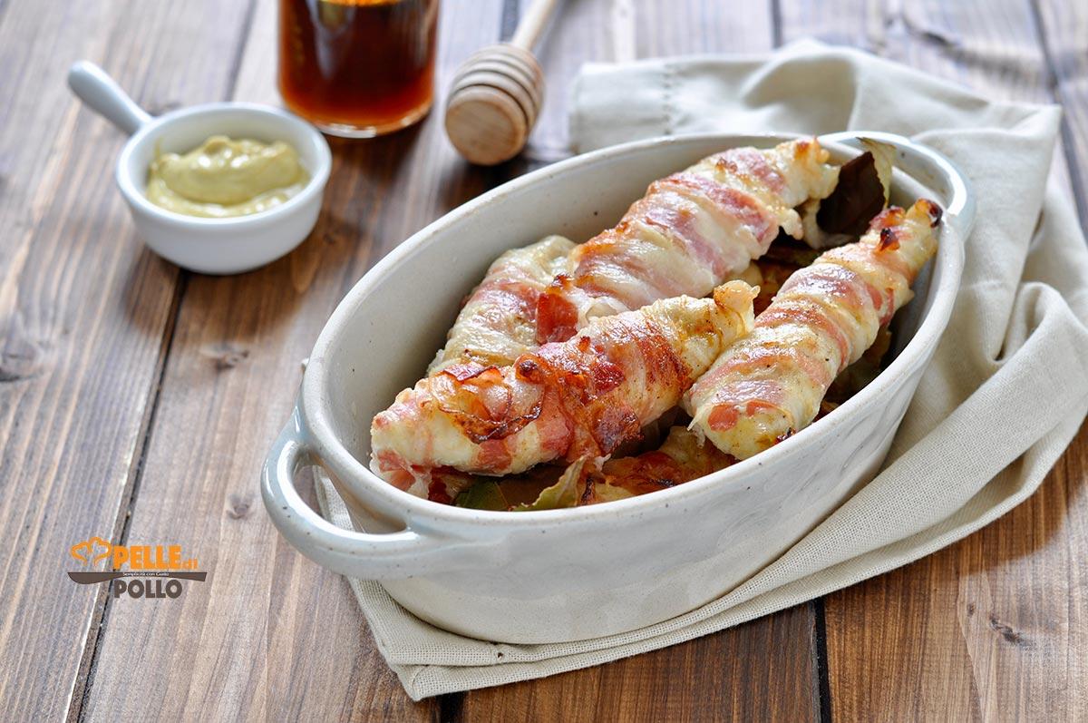 petto di pollo con pancetta e senape