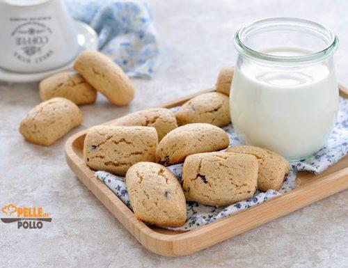 Biscotti semi integrali con gocce di cioccolato