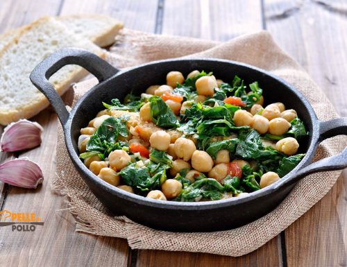 Zuppetta di ceci e spinaci