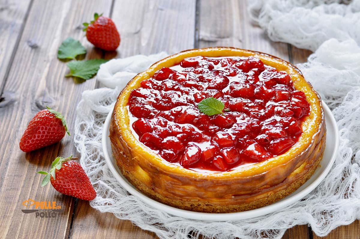 cheesecake al forno ricotta fragole