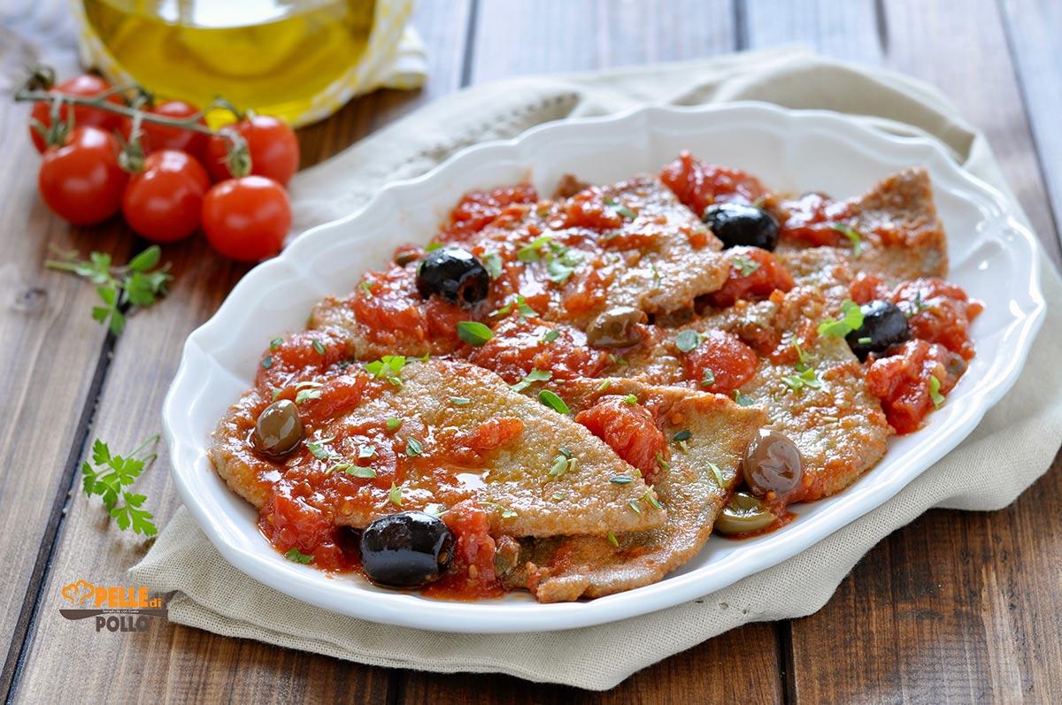 fettine di manzo al pomodoro olive capperi