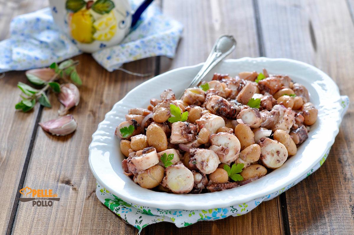 insalata di polpo e fagioli borlotti
