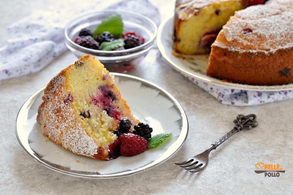 torta yogurt greco frutti di bosco