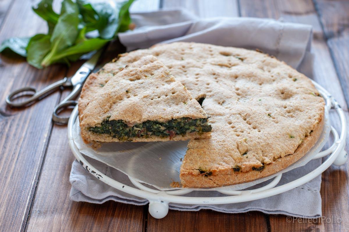 torta rustica ripiena di spinaci