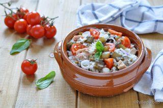 insalata di riso con tonno melanzane