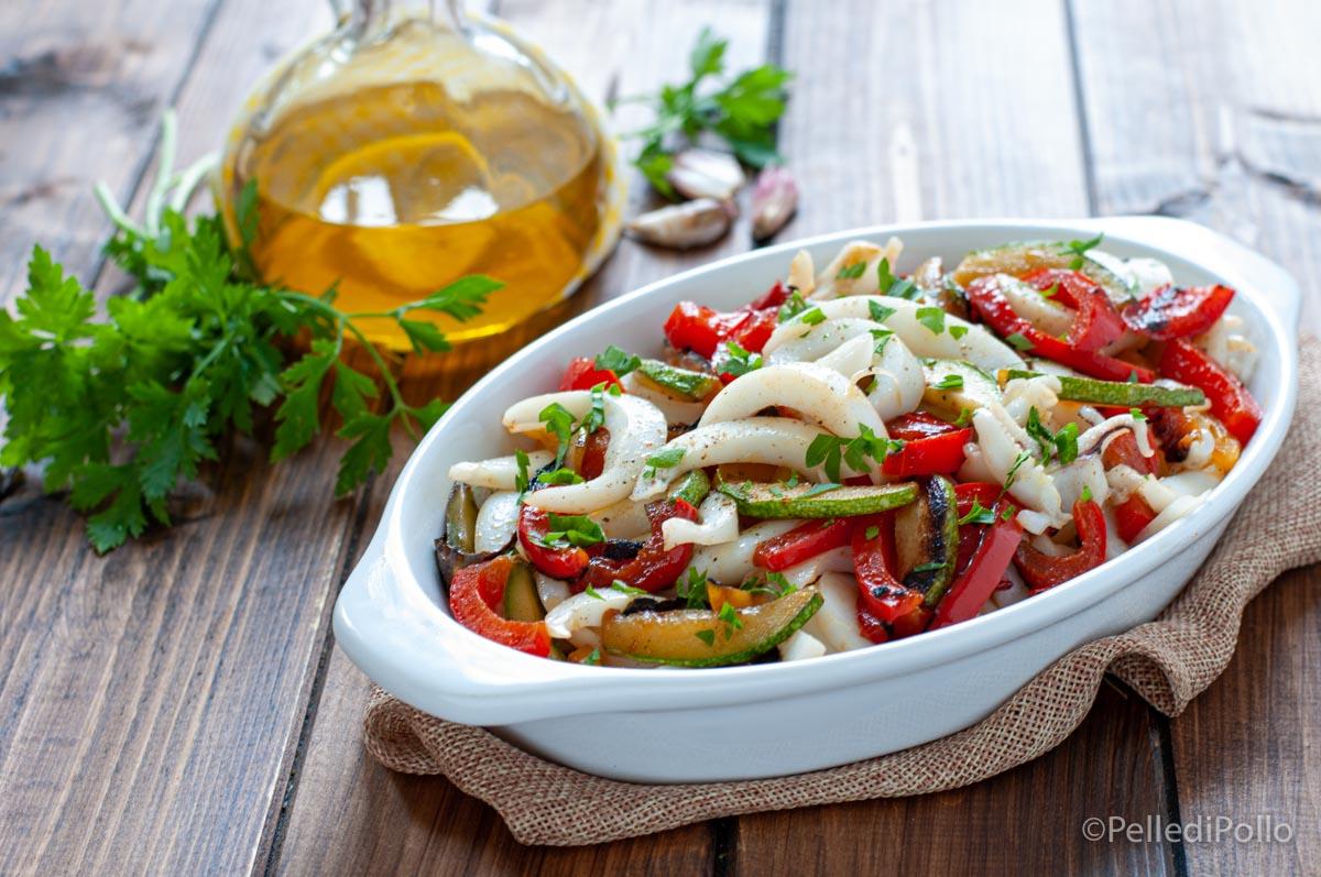 insalata di seppie con peperoni
