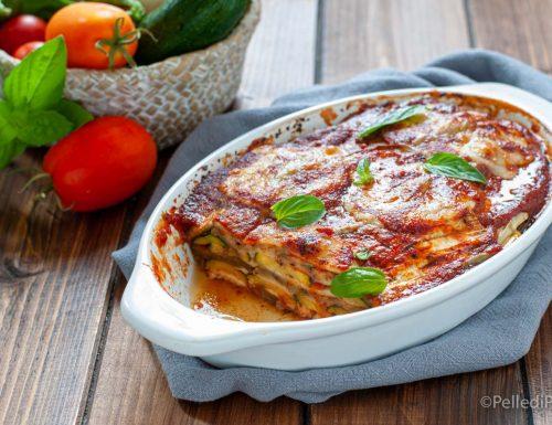 Parmigiana di melanzane e zucchine grigliate