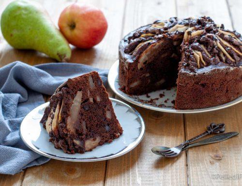 Torta alle pere con cioccolato e rum