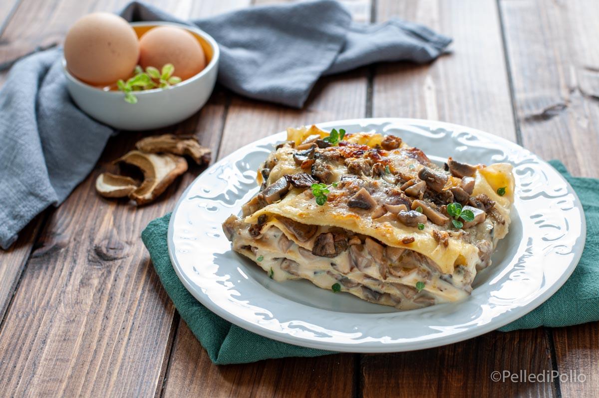 lasagne ai funghi cremose