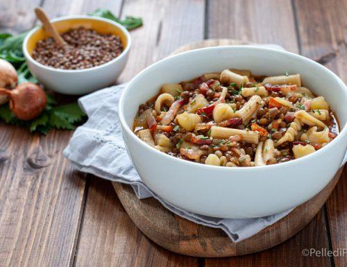Pasta e lenticchie con patate