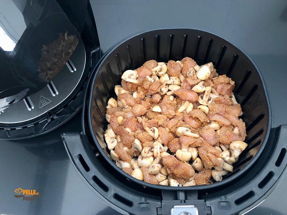 pollo ai funghi in airfryer