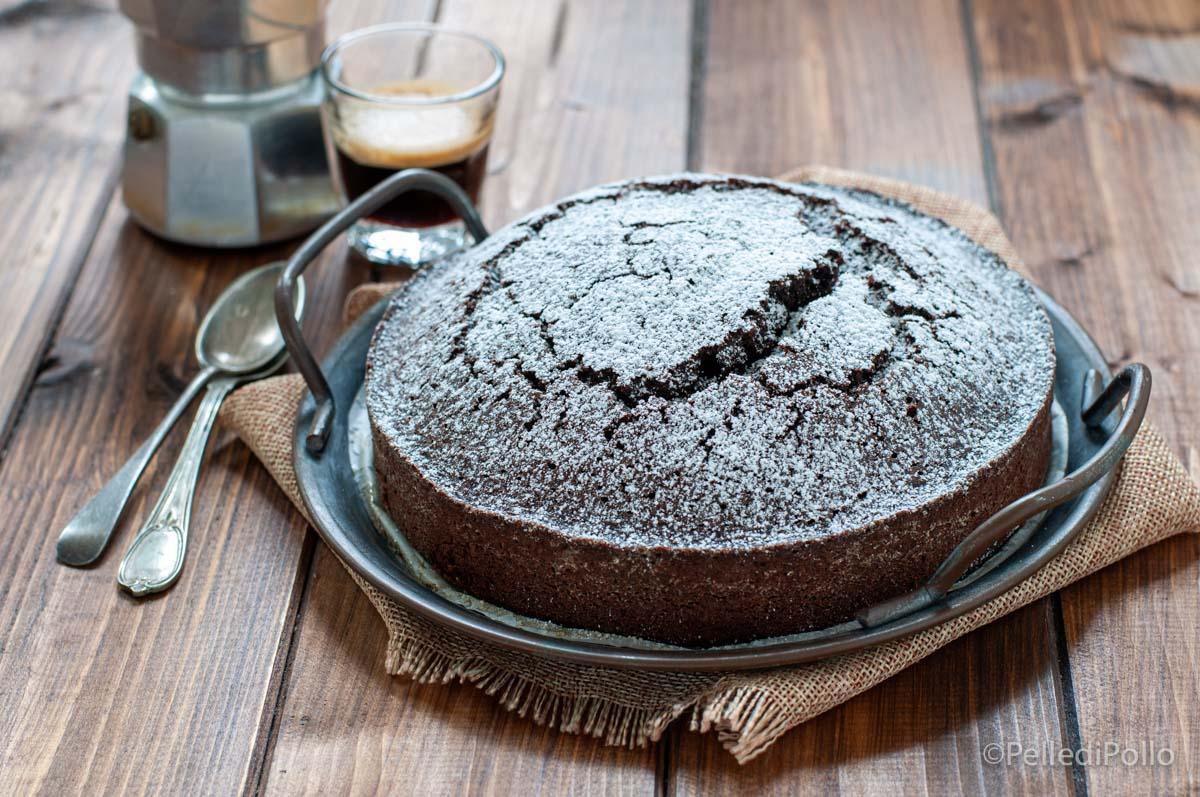 torta al caffè e cacao soffice