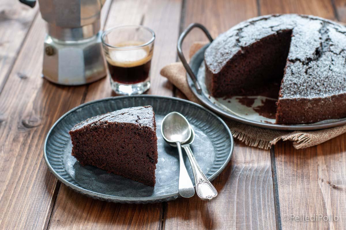 torta al cacao e caffè senza burro