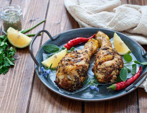 Cosce di pollo alle spezie in friggitrice ad aria